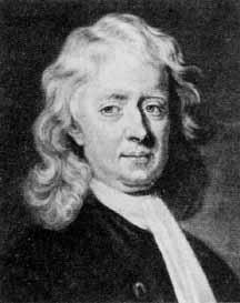 Sir Isaac Newton, Englischer Physiker und Mathematiker (1642-1727) Er definierte das Gravitationsgesetz und leitet die keplerschen Gesetze ab. - newton