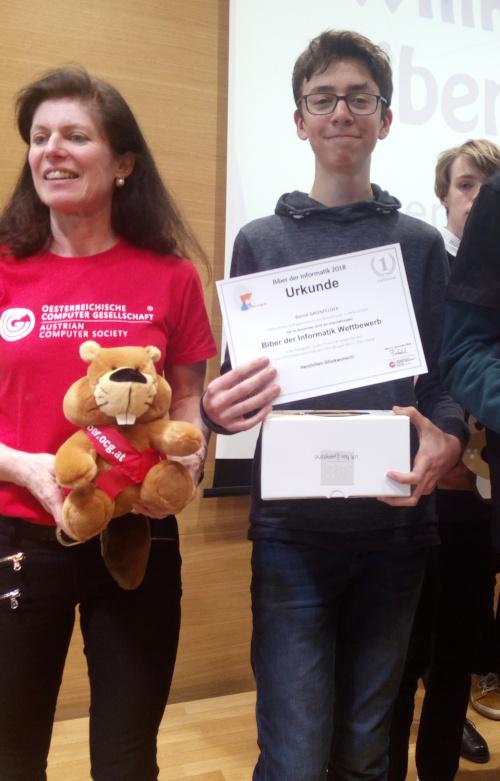 Bernd Grünfelder beim Biber Award 2019